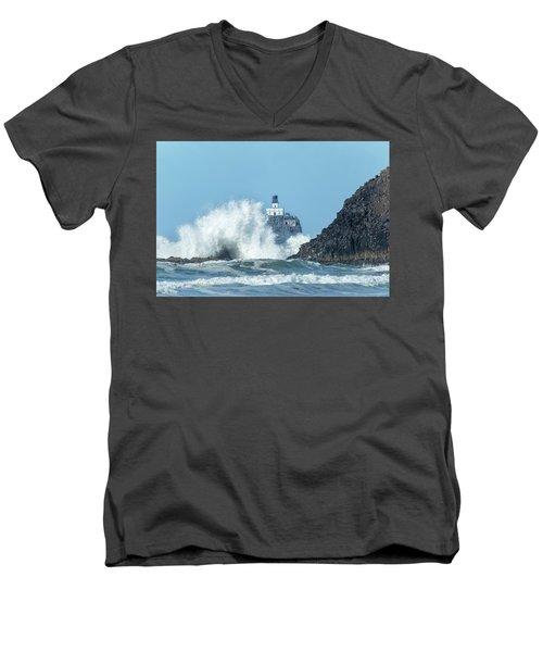Tillamook Rock Light House, Oregon - Terrible Tilly Men's V-Neck T-Shirt