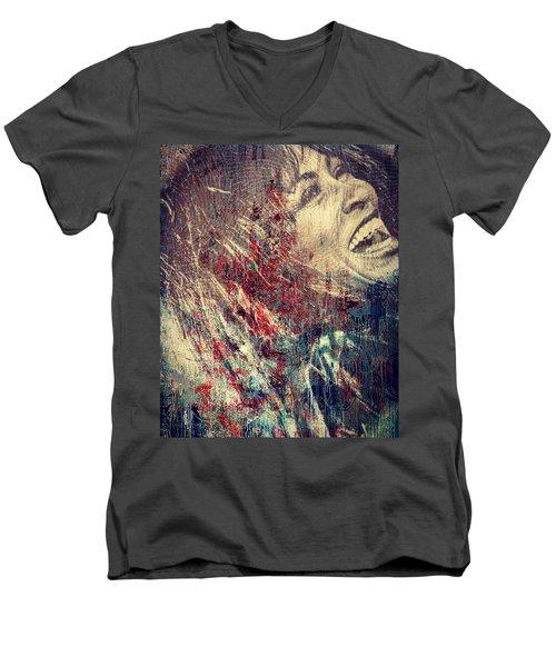 Tina Turner Spirit  Men's V-Neck T-Shirt