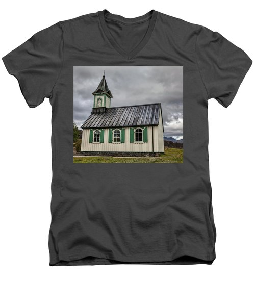 Tiny Church Of Iceland Men's V-Neck T-Shirt