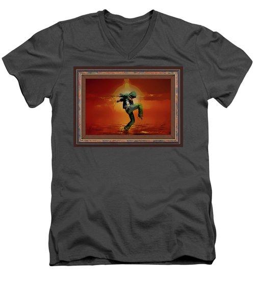 Tip Toe Dancer Men's V-Neck T-Shirt