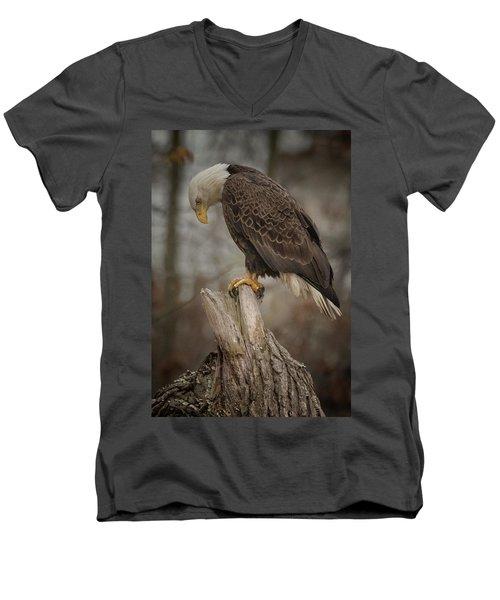 Tired Eagle Dad  Men's V-Neck T-Shirt
