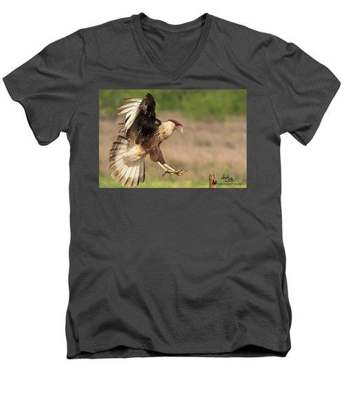 Touching Down Men's V-Neck T-Shirt