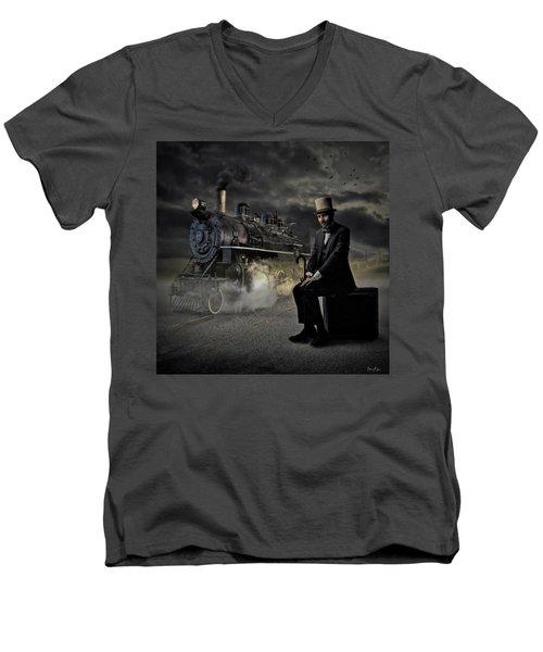Train To Nowhere Men's V-Neck T-Shirt