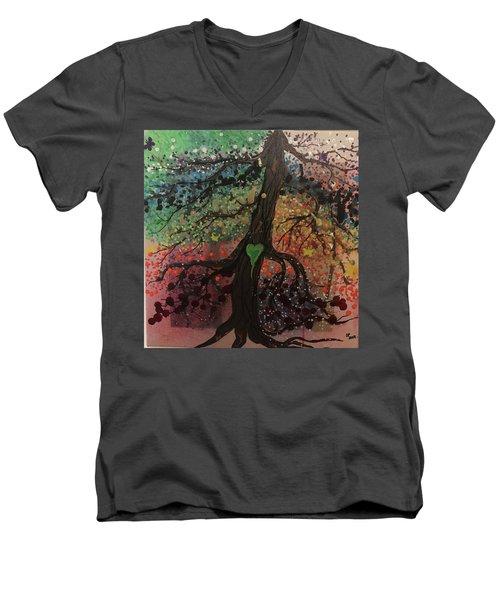 Tree Of Life Chakra Tree Men's V-Neck T-Shirt