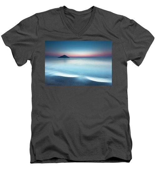 Triangle Island Men's V-Neck T-Shirt
