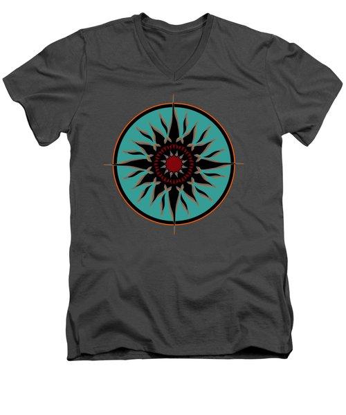 Tribal Sun Men's V-Neck T-Shirt