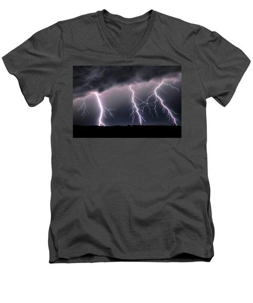 Triplets Cropped Men's V-Neck T-Shirt