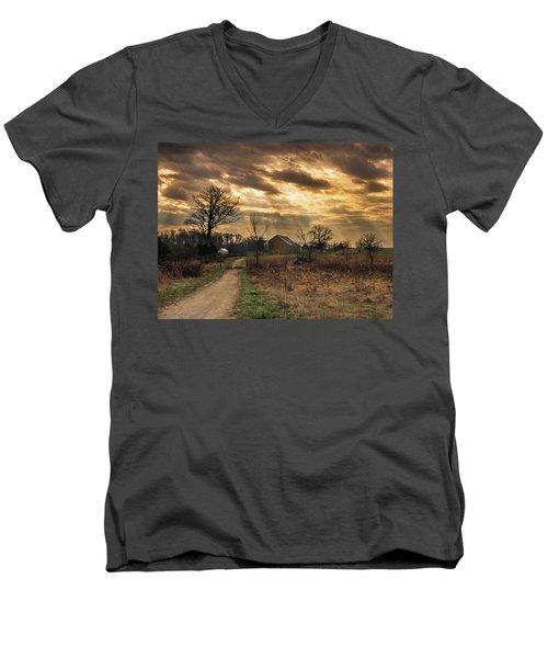 Trostle Sky Men's V-Neck T-Shirt