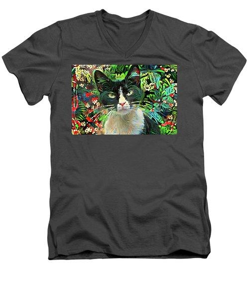 Tucker The Tuxedo Cat Men's V-Neck T-Shirt