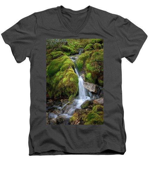 Tufteelvi, Norway Men's V-Neck T-Shirt