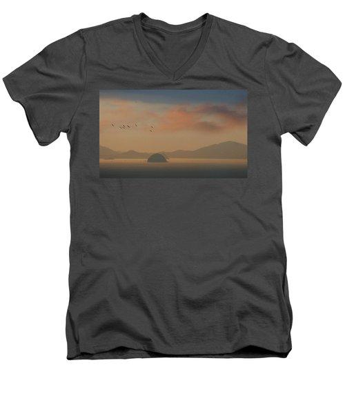 Twilight Calm Men's V-Neck T-Shirt