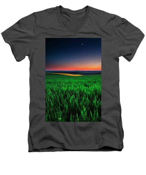 Twilight Fields Men's V-Neck T-Shirt