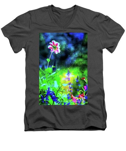 Underwater Garden Abstract Men's V-Neck T-Shirt