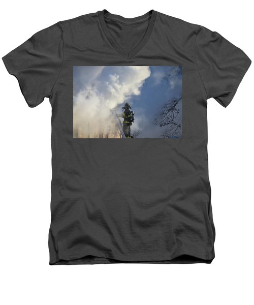 Up In Smoke Men's V-Neck T-Shirt