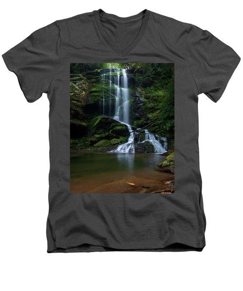 Upper Catawba Falls, North Carolina Men's V-Neck T-Shirt
