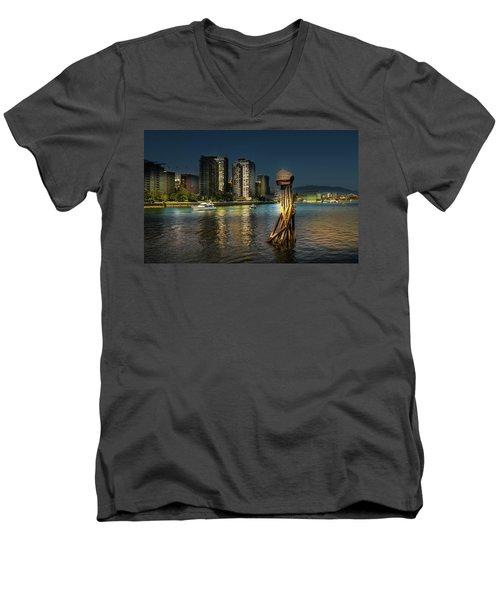Vancouver Sunset Men's V-Neck T-Shirt