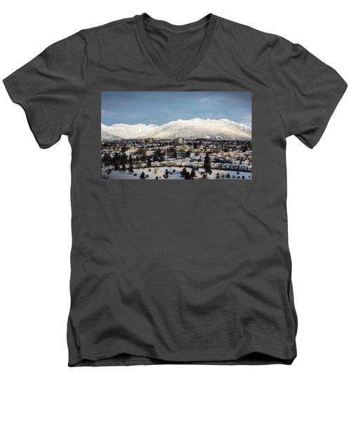 Vancouver Winterscape Men's V-Neck T-Shirt