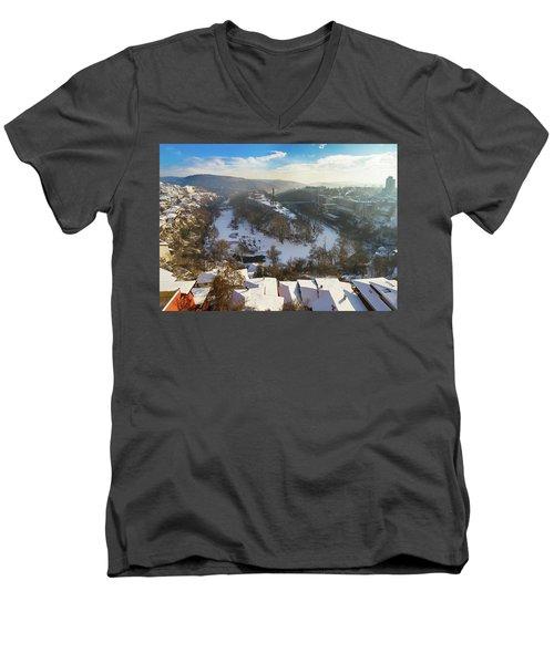 Veliko Turnovo City Men's V-Neck T-Shirt