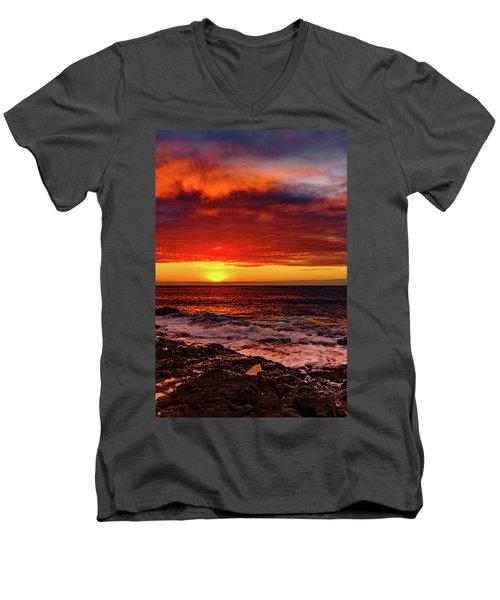 Vertical Warmth Men's V-Neck T-Shirt
