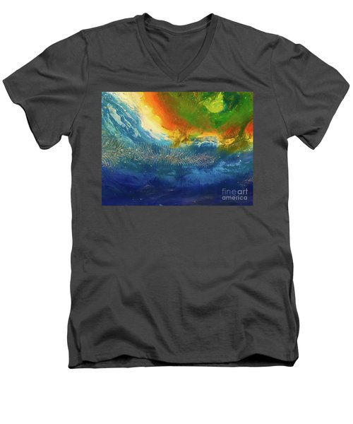 View From Space Men's V-Neck T-Shirt