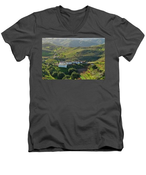 Village Hidden In The Mountains Men's V-Neck T-Shirt