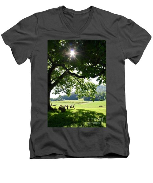 Vineyard In Georgia Men's V-Neck T-Shirt