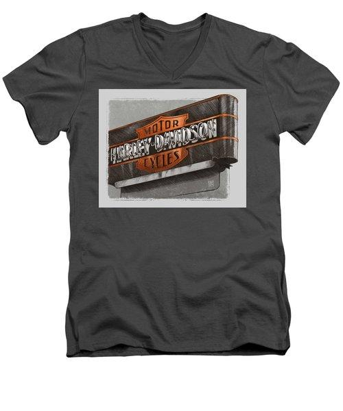 Vintage Motorcycle Shop Men's V-Neck T-Shirt