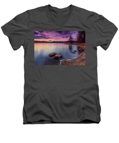 Violet Dusk Men's V-Neck T-Shirt