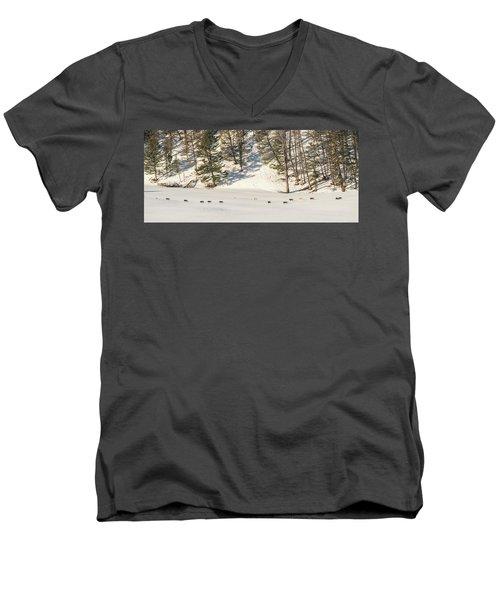 W48 Men's V-Neck T-Shirt