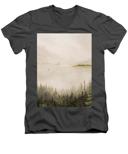 Waiting For The Eagle To Come Men's V-Neck T-Shirt