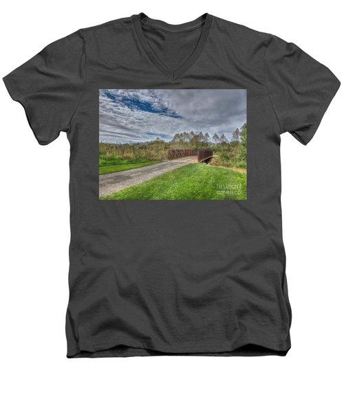Walnut Woods Bridge - 1 Men's V-Neck T-Shirt