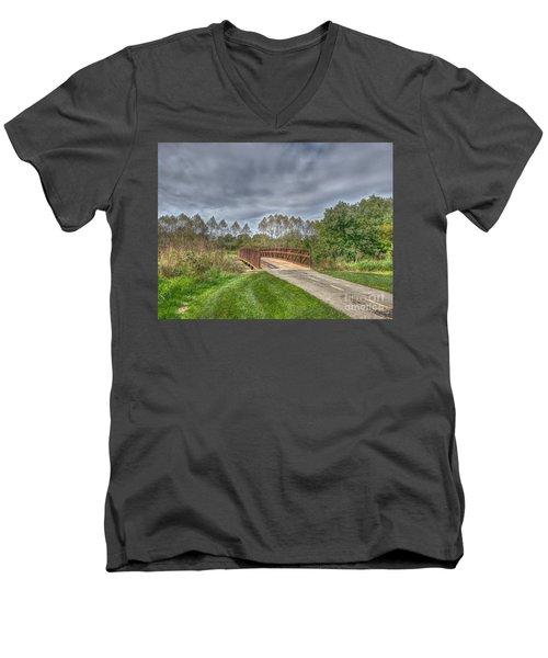 Walnut Woods Bridge - 2 Men's V-Neck T-Shirt
