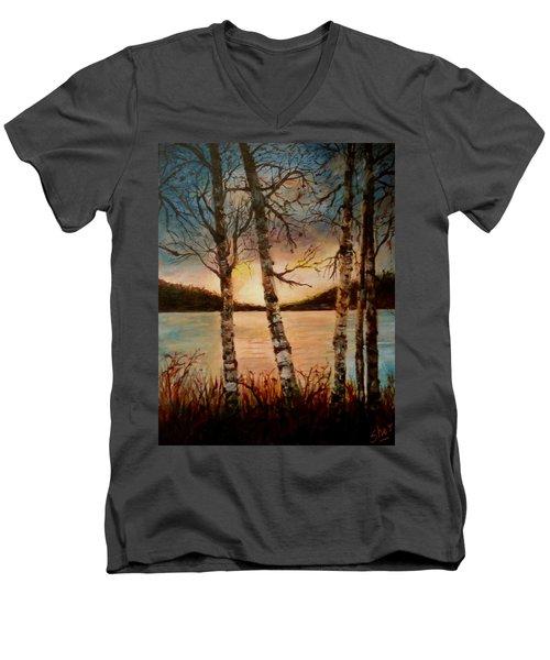 Warm Fall Day Men's V-Neck T-Shirt