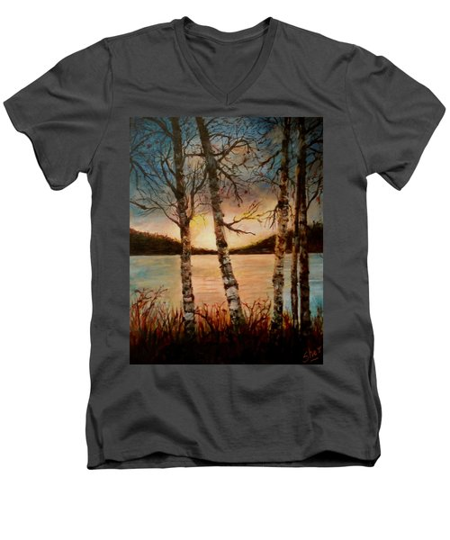 Warm Fall Day Men's V-Neck T-Shirt