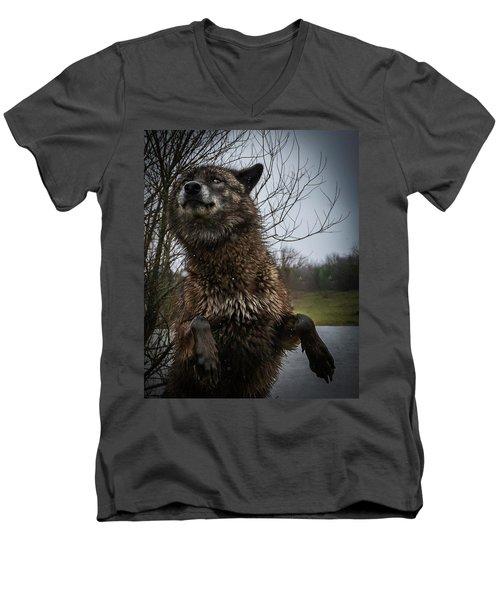 Watch The Eyes Men's V-Neck T-Shirt