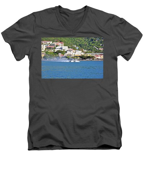 Water Launch Men's V-Neck T-Shirt