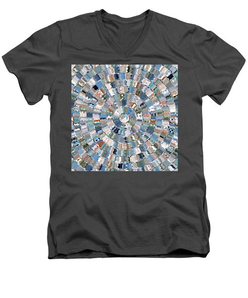 Water Mosaic Men's V-Neck T-Shirt