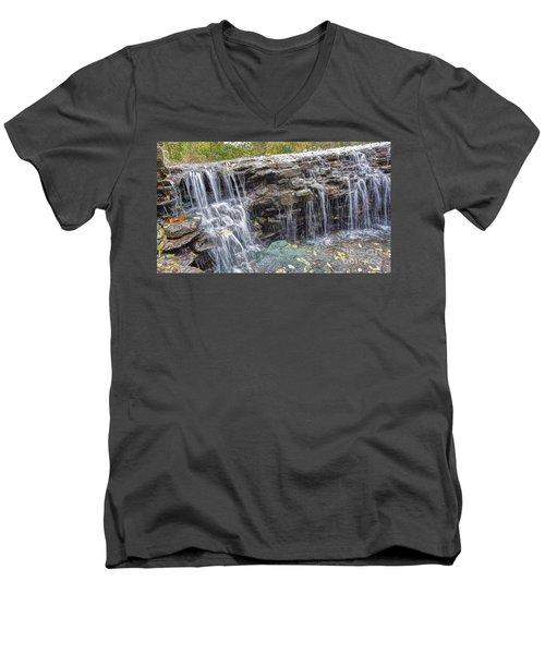 Waterfall @ Sharon Woods Men's V-Neck T-Shirt
