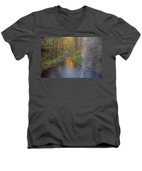 Waterfall Waterdrops Men's V-Neck T-Shirt