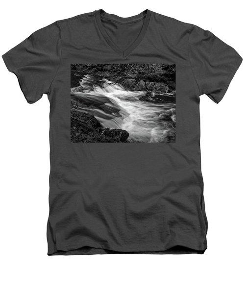 Waterfalls At Ricketts Glenn Men's V-Neck T-Shirt
