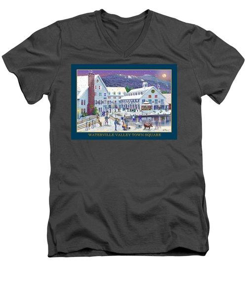 Waterville Valley At Wintertime Men's V-Neck T-Shirt