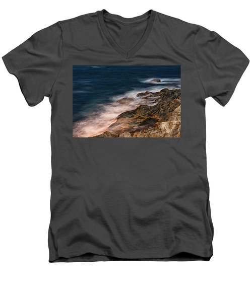 Waves And Rocks At Sozopol Town Men's V-Neck T-Shirt