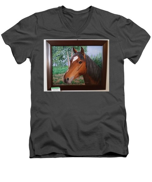 Wayne's Horse Men's V-Neck T-Shirt
