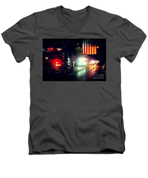 We Remember 9/11 Men's V-Neck T-Shirt