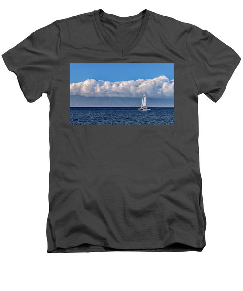 Whale Watching Men's V-Neck T-Shirt