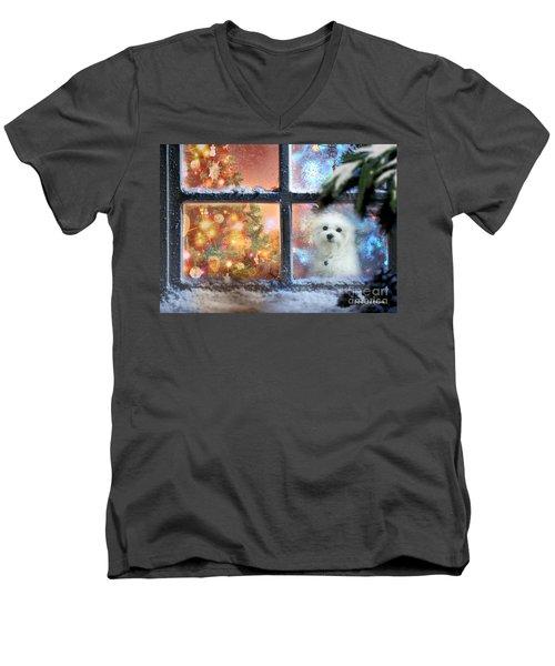 Where Is Santa ? Men's V-Neck T-Shirt