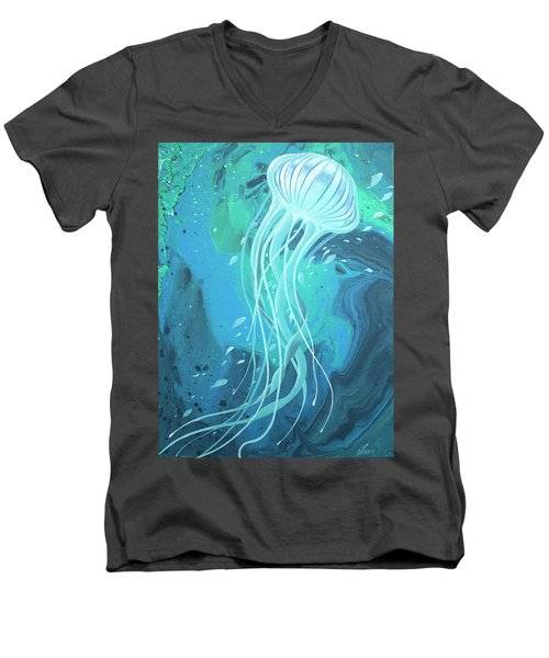 White Jellyfish Men's V-Neck T-Shirt