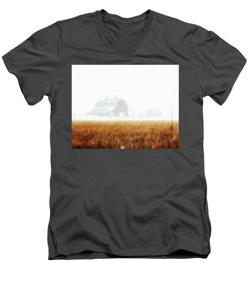 White Out Men's V-Neck T-Shirt