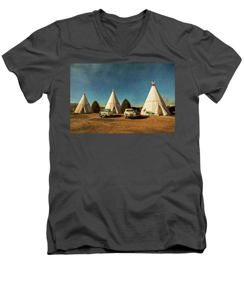 Wigwam Hotel Men's V-Neck T-Shirt