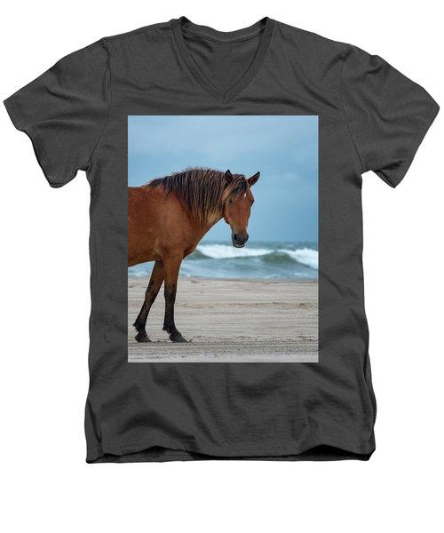 Wild Colonial Spanish Mustang Of Carova Stormy Skies Men's V-Neck T-Shirt